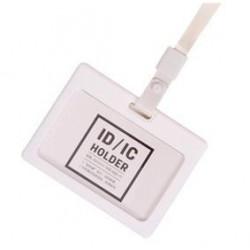 Ecuson Orizontal Deli Silicon Cu Capsa Si Snur Pentru Carduri