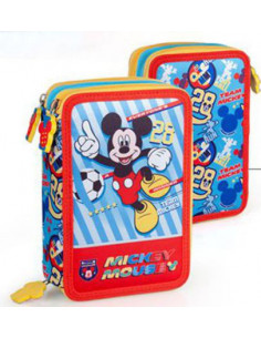 Penar echipat Mickey Mouse cu fermoar, 3 compartimente