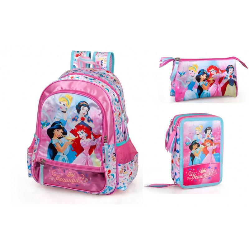 Set scoala Princess - Ghiozdan, Penar echipat, Penar etui