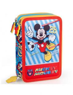 Set scoala Mickey Mouse - Ghiozdan, Penar echipat, Penar etui