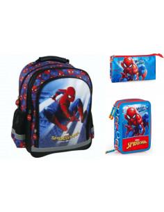 Set scoala Spiderman Home Coming - Ghiozdan, Penar echipat, Penar etui