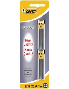 Mine creion mecanic BIC 0.7 mm, 2 buc/blister