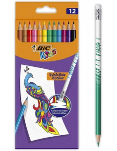 Creioane colorate BIC Evolution Illusion P/12