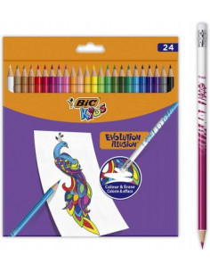 Creioane colorate BIC Evolution Illusion P/24