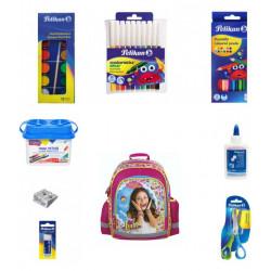 Set scoala Soy Luna 20 - Ghiozdan, Creioane colorate, Carioci