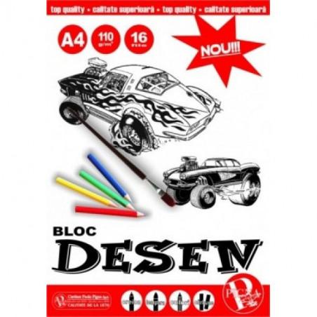 Bloc Desen Pigna A4 16 File, 110 g