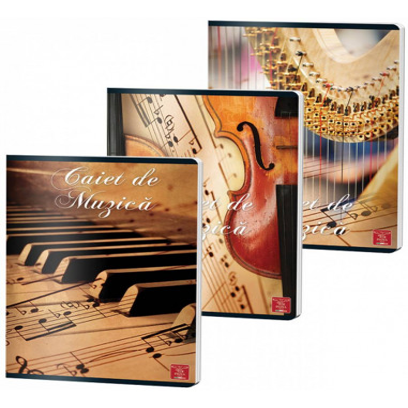 Caiet Pigna A4, muzica, 24 file