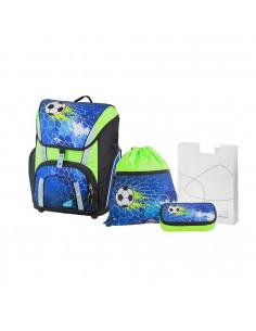 Ghiozdan Fotbal Smart Albastru cu Etui, Sac sport, Cut.pt carti