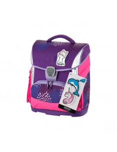 Ghiozdan Sprinkle Plus Violet cu Etui, Sac Sport, Stickere