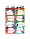 Etichete Scolare Mickey Mouse, 40/Set
