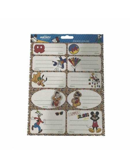 Etichete Scolare Mickey Mouse, 20/Set