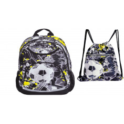Set scoala Football - Ghiozdan scolar, Sac incaltamine Team