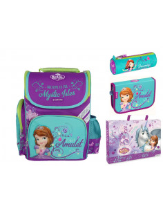 Set scoala Sofia The First - Ghiozdan ergonomic + Penar