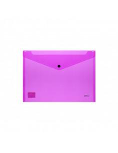Mapa Plastic Daco plic cu capsa A4, Mov Neon