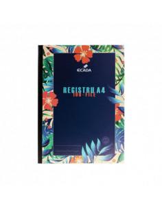 Registru A4 Ecada cartonat, Matematica, 100 file