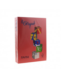 Carton color Favini 209 A4, Rosu, 160G/mp, 250 coli/top