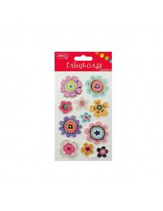 Abtibild Daco Fabuloase, Model cu flori