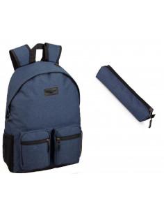 Set scoala Charro 2B albastru - Ghiozdan + Etui