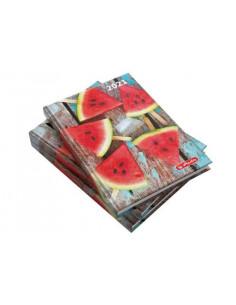 Agenda Datata A5 2021, 352 Pagini + 16 Pagini Zentangle, Motiv Watermelon Herlitz