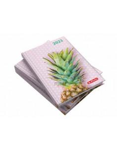 Agenda Datata A5 2021, 352 Pagini + 16 Pagini Zentangle, Motiv Pineapple Herlitz