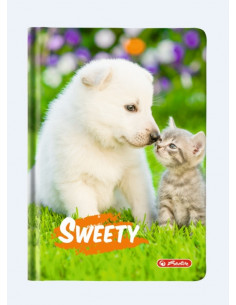 Agenda A6 Nedatata Sweety 352 File, Motiv Puppy And Kitten Herlitz