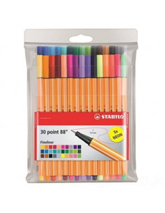 Fineliner Point 88 Stabilo, 0.4mm, 30 buc/set plastic