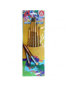 Pensule Colour Kids 6 bucati/set, varf ascutit