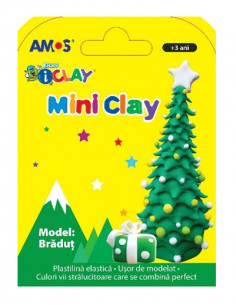Plastilina Mini iClay pentru copii, Bradut, 30g
