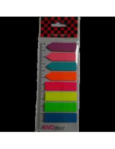 Stick index cu rigla EVOffice, 8x25 file, Multicolor