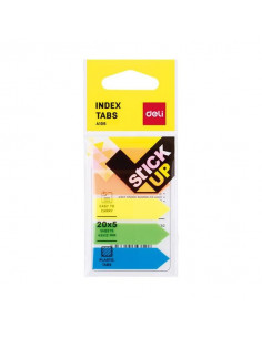 Index Adeziv Deli Plastic 12 x 43 mm 5 Culori 20 File