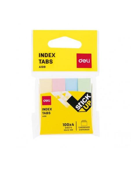 Index Adeziv Deli Hartie 12 x 50 mm 4 Culori 100 File