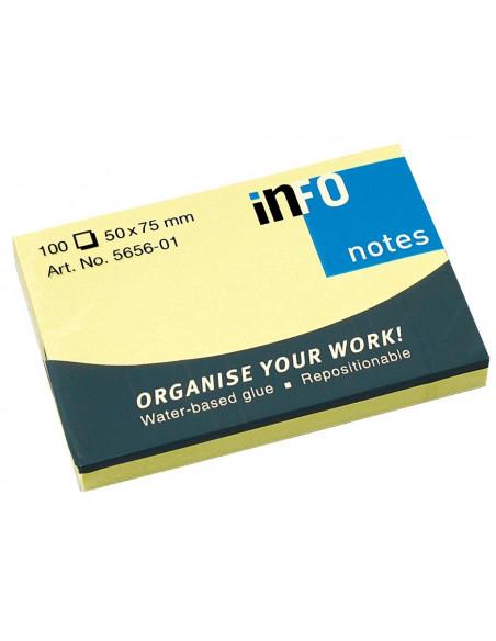 Notes Adeziv Yellow 50 X 75 Mm 100 File