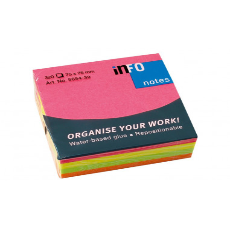 Cub Notes Adeziv Briliant 75 X 75 Mm 4 X 80 File