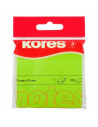 Notes Adeziv 2, Verde Neon, 75 X 75 Mm, 100 File, Kores