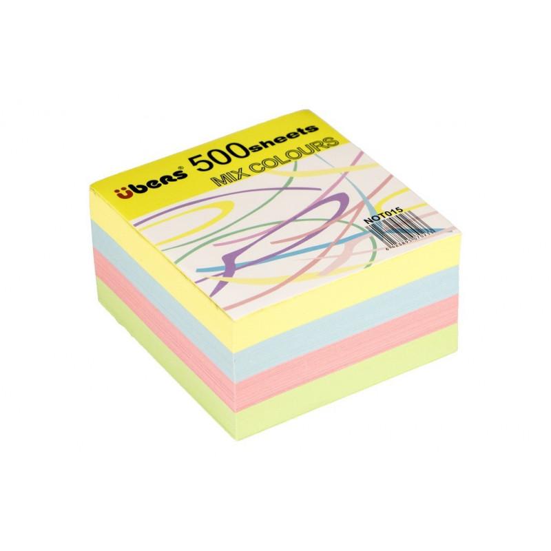 Rezerva Cub Din Hartie Color 80 X 80 Mm 500 File