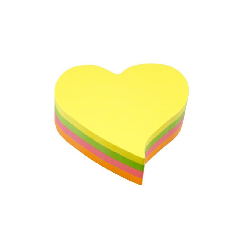 Notes Adeziv In Forma De Inima 70 X 70 Mm 200 File