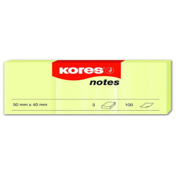 Notes Adeziv Galben Pal 50 X 75 Mm 100 File Kores