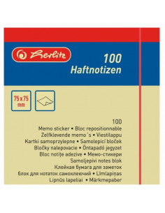 Bloc Notes Adezive 75X75Mm 100File Galben