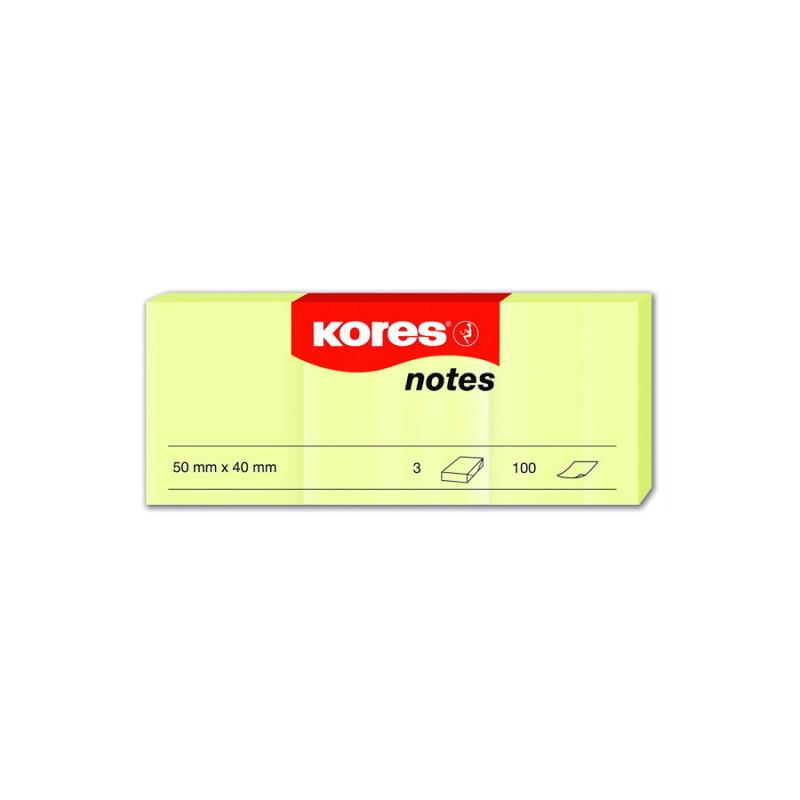 Notes Adeziv Galben Pal 40 X 50 Mm 100 File Kores