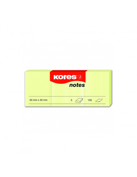 Notes Adeziv Galben Pal 40 X 50 Mm 100 File Kores