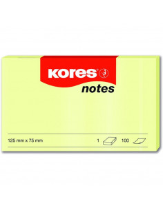 Notes Adeziv Galben Pal 75 X 125 Mm 100 File Kores