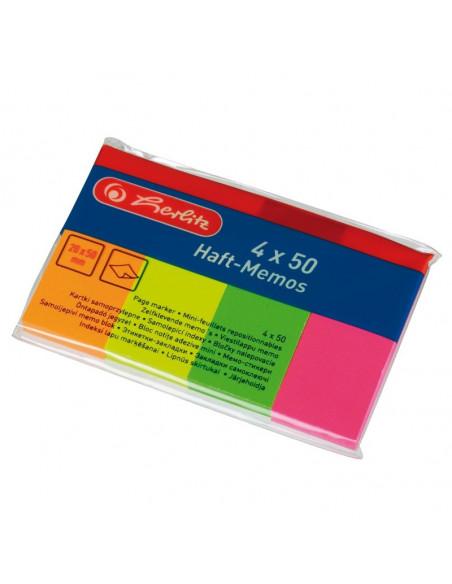 Bloc Notes Mini Adeziv 20Mmx50Mm Set 4X50F
