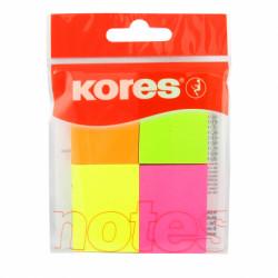 Notes Adeziv 40 X 50 Mm 4 Culori Neon X 50 File Kores