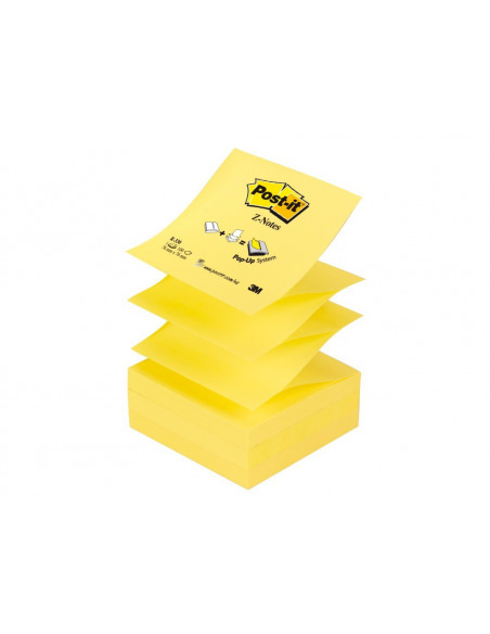 Notes Adeziv Post-It 3M Canary Yellow Z 76 X 76 Mm 100 File