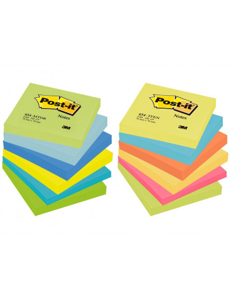Notes Adeziv Post-It 3M Neon 76 X 76 Mm 100 File