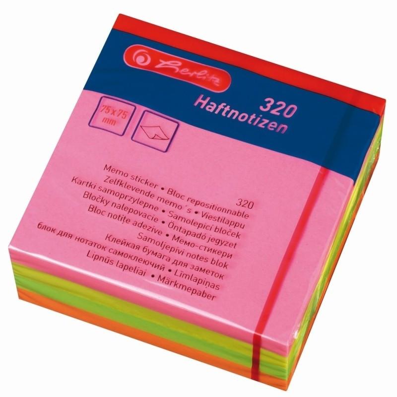 Bloc Notes Adezive 75X75Mm 80Filex4 Culori Pale Asortate