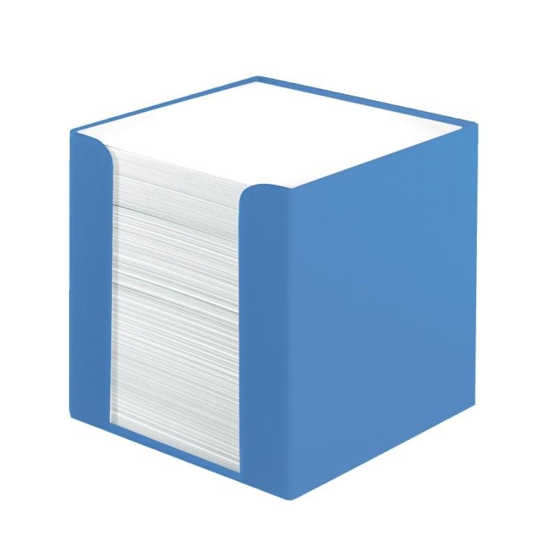 Cub Hartie Herlitz Alb Cu Suport Albastru 9X9X9Cm 700 File