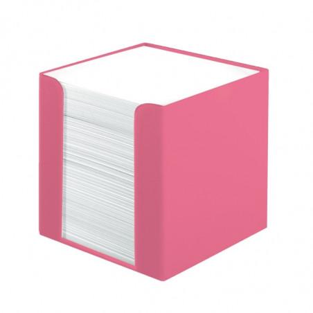 Cub Hartie Herlitz Alb Cu Suport Roz 9X9X9Cm 700 File