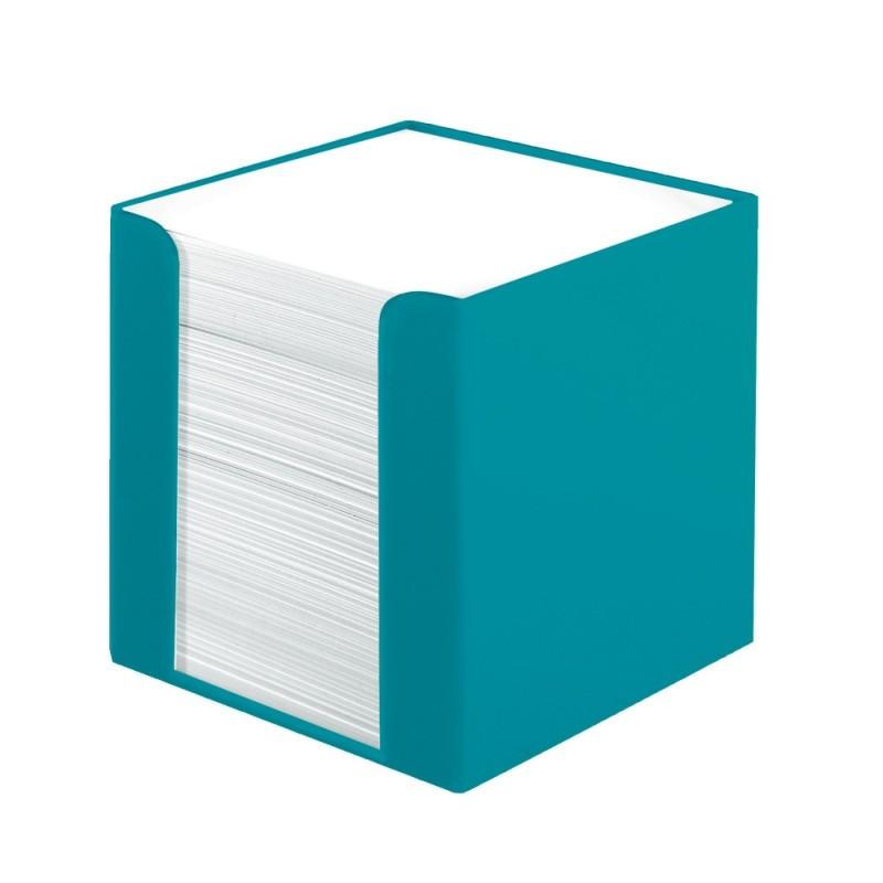 Cub Hartie Herlitz Alb Cu Suport Tourquise 9X9X9Cm 700 File