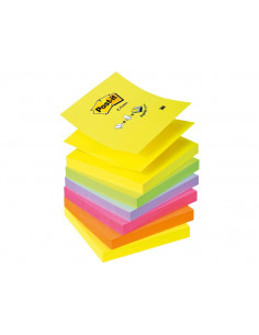 Notes Adeziv Post-It 3M Z Neon Unicolor 76 X 76 Mm 6 X 100 File